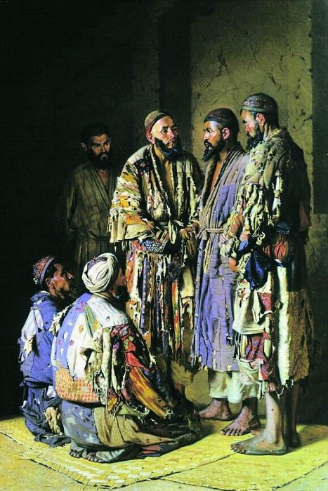 Politicians in opium shop. Tashkent. 1870. Vasily Vereshchagin