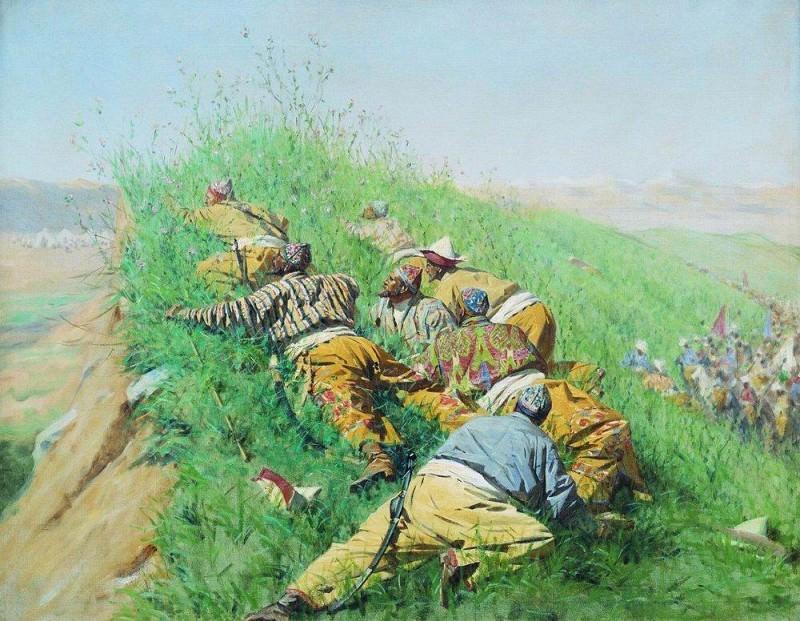 spy out. 1873. Vasily Vereshchagin
