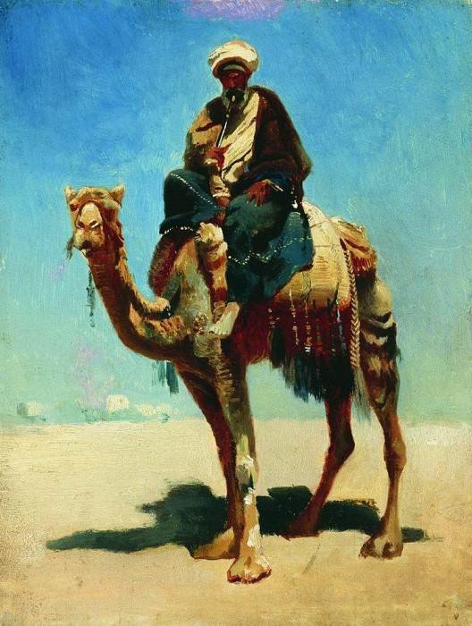 Араб на верблюде. 1869-1870. Василий Васильевич Верещагин