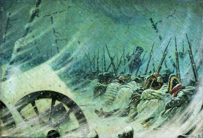 Night Bivouac of the Grand Army. 1896-1897. Vasily Vereshchagin