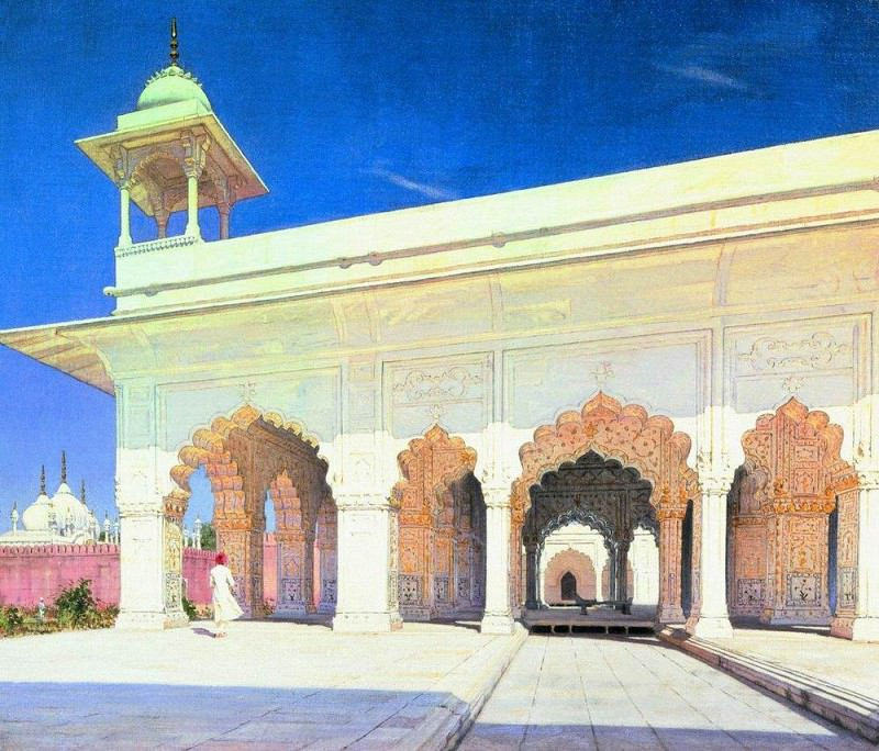 Throne Room of the Great Mogul Shah Jahan, and Aurang-Zeb in the fort of Delhi. 1875. Vasily Vereshchagin