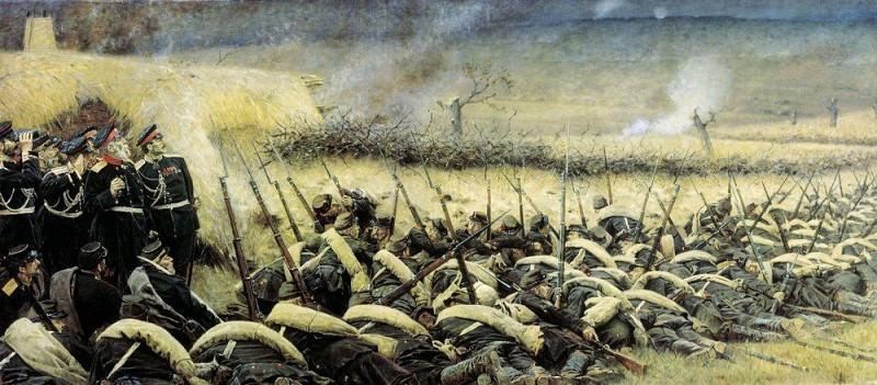 before attacking. Plevna. 1881. Vasily Vereshchagin