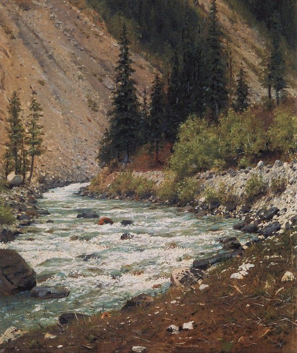 Mountain stream in Kashmir. 1875. Vasily Vereshchagin