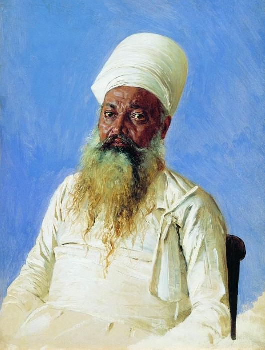 Parsi priest (fire-worshiper). Bombay. 1874-1876. Vasily Vereshchagin
