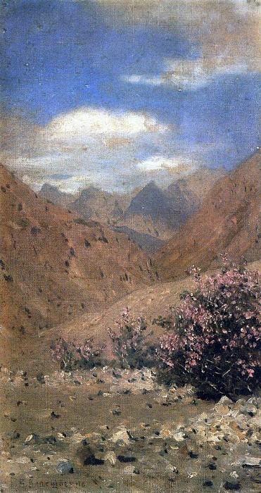 Roses in Ladakh. 1874-1876. Vasily Vereshchagin