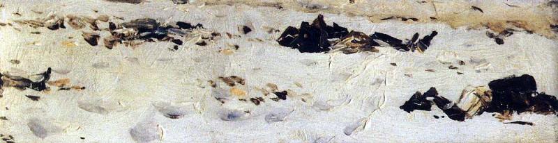 frozen corpses of Turkish soldiers. 1877-1878. Vasily Vereshchagin