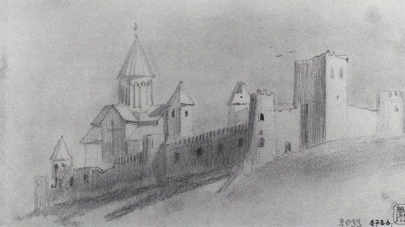 Ananuri. 1863. Vasily Vereshchagin