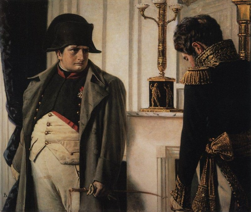 Napoleon and Marshal Lauriston (Peace at any price). 1899-1900. Vasily Vereshchagin