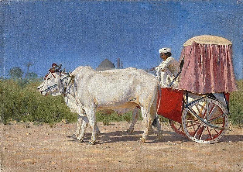 Wagon in Delhi. Vasily Vereshchagin