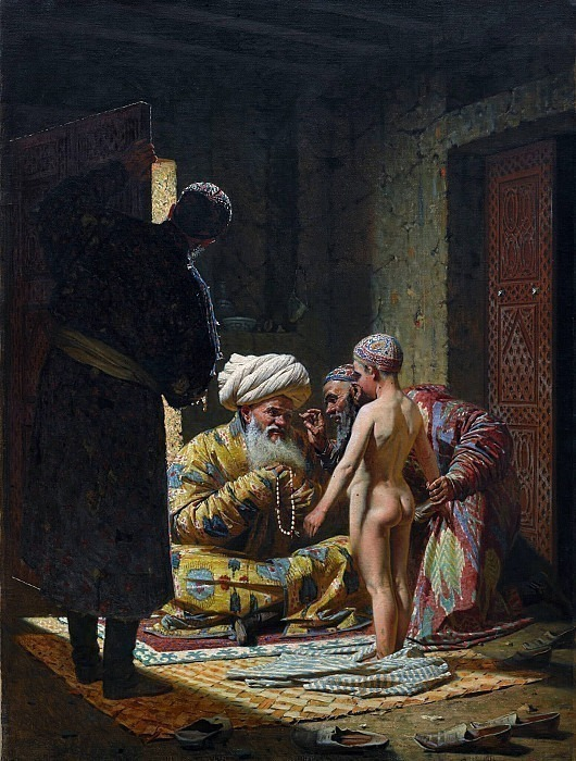 Selling a slave child. Vasily Vereshchagin