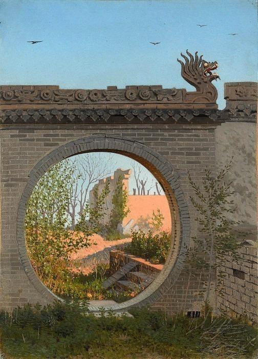 Garden gate in Chuguchak. Vasily Vereshchagin