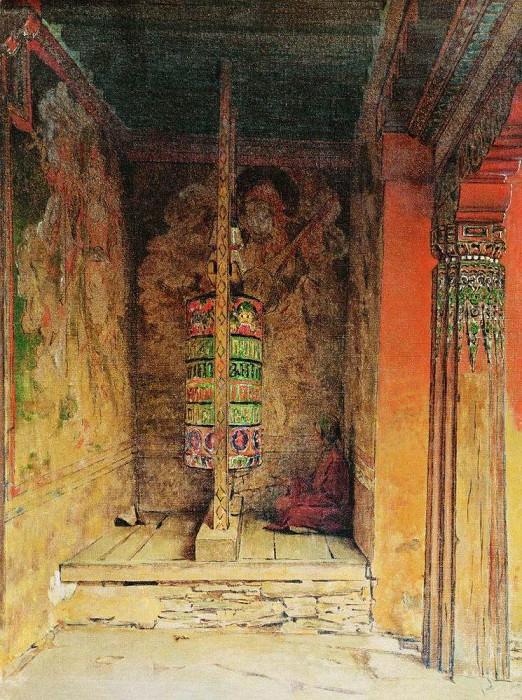 Prayer Machine Buddhists. 1875. Vasily Vereshchagin
