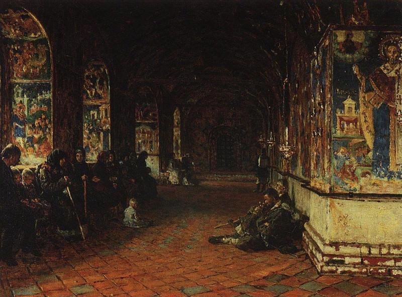 porch of the church of John the Baptist in Tolchkovo. Yaroslavl. 1888. Vasily Vereshchagin