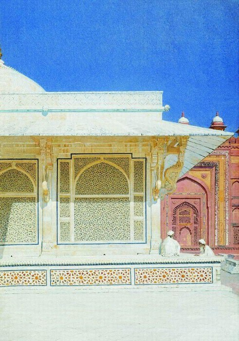Tomb of Sheikh Salim Chishti in Fatehpur Sikri. 1874-1876. Vasily Vereshchagin