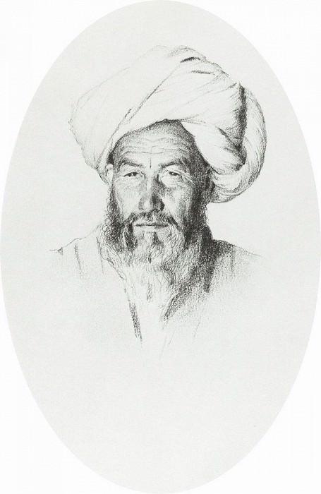 Uzbek, Sergeant (aksakal) village Hodzhagent. 1868. Vasily Vereshchagin