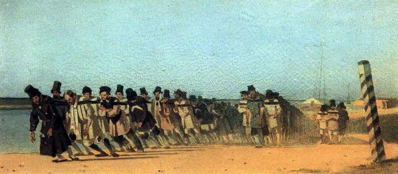 haulers. 1866. Vasily Vereshchagin