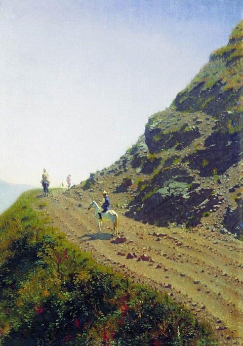 Nomadic road in the mountains of Tau. 1869-1870. Vasily Vereshchagin