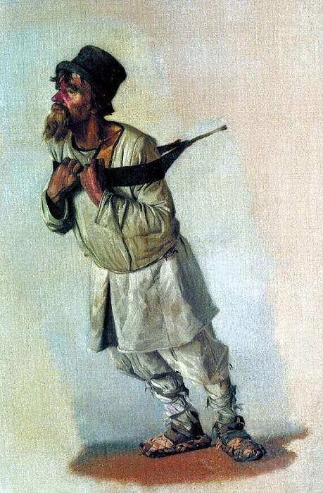Бурлак, держащийся руками за лямку. 1866. Василий Васильевич Верещагин