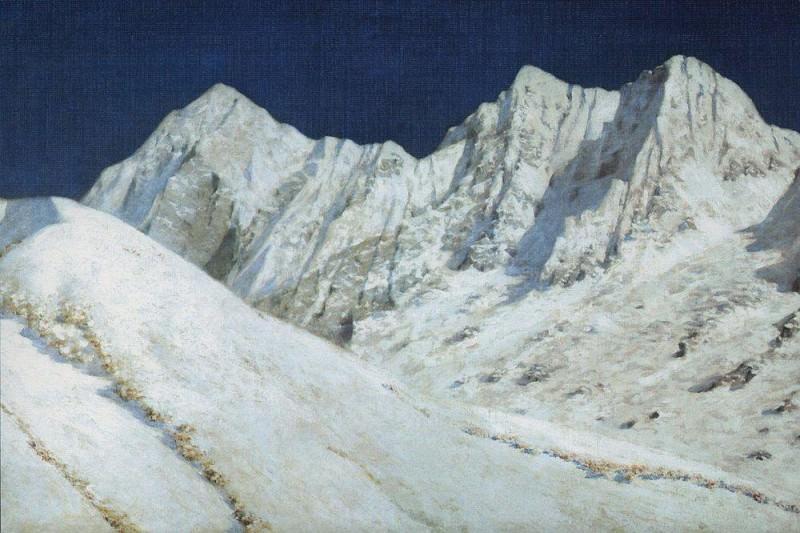 in India. Snow in the Himalayas. 1874-1876. Vasily Vereshchagin