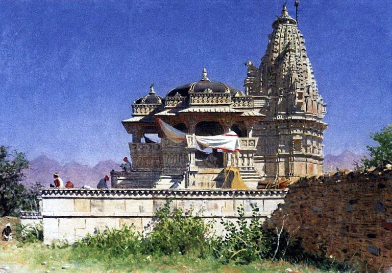 Brahmin temple in Adelnure. 1874-1876. Vasily Vereshchagin