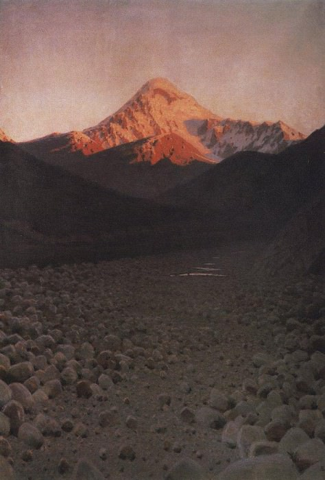 Mount Kazbek. 1897-1898. Vasily Vereshchagin