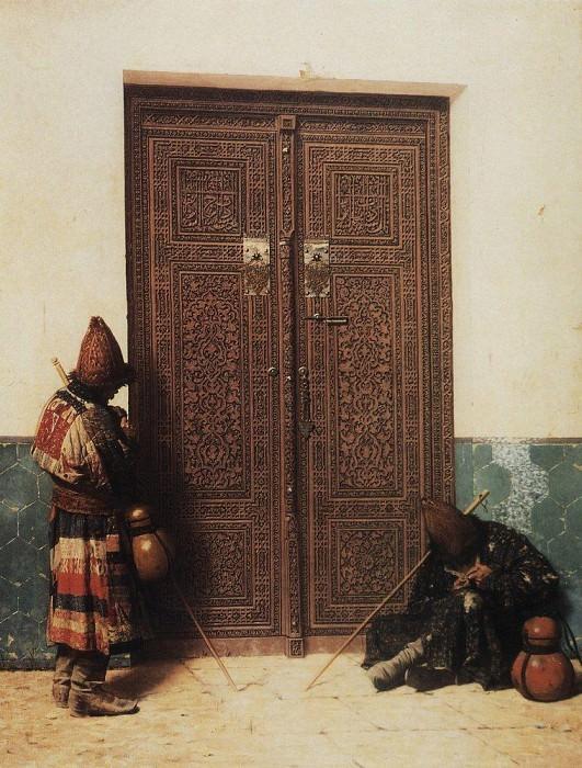 At the door of the mosque. 1873. Vasily Vereshchagin
