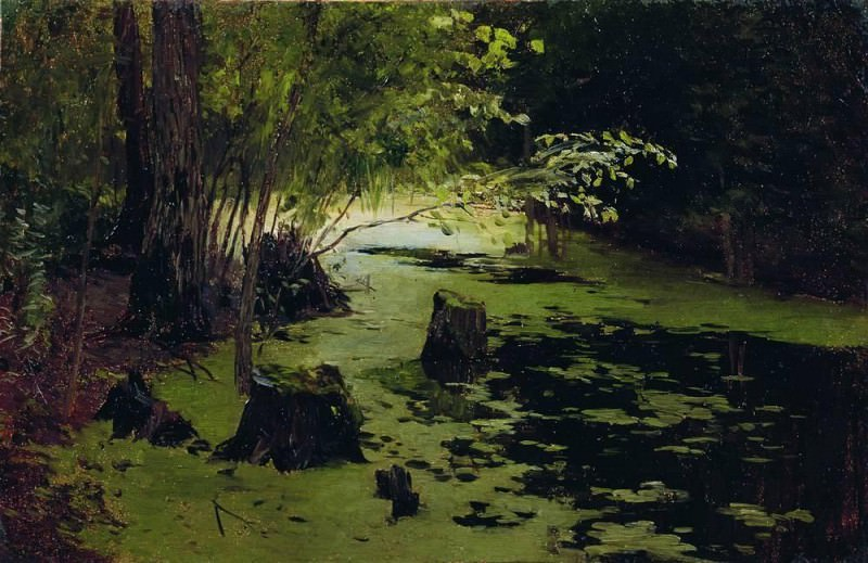 Water Margin (pond). The end of XIX century. Isaac Ilyich Levitan
