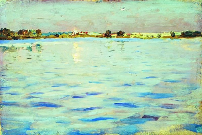 Latest rays. Lake. 1898-1899. Isaac Ilyich Levitan