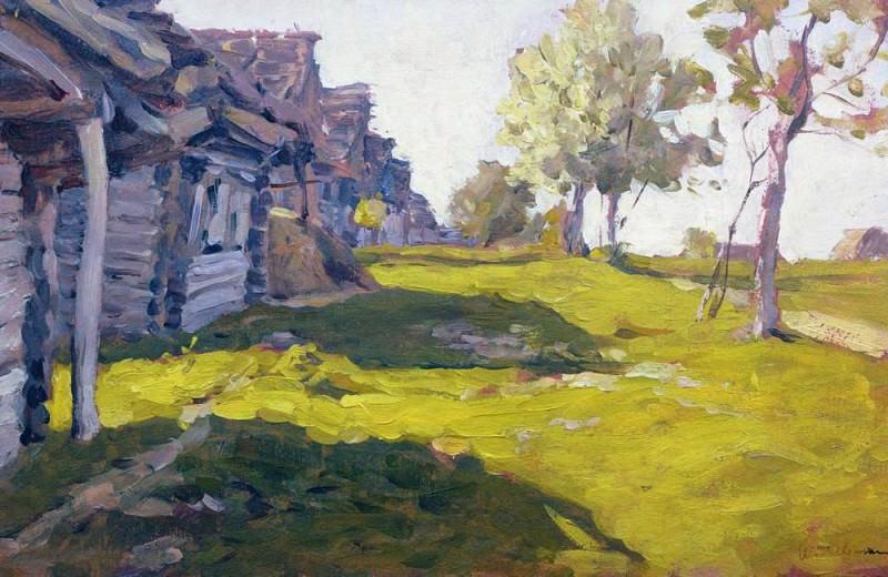 Sunny day. Village. 1898. Isaac Ilyich Levitan