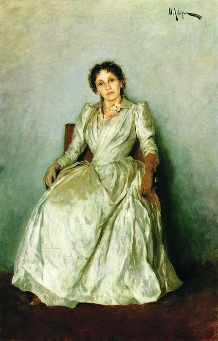 Portrait of Sofia Petrovna Kuvshynnykova. 1888. Isaac Ilyich Levitan