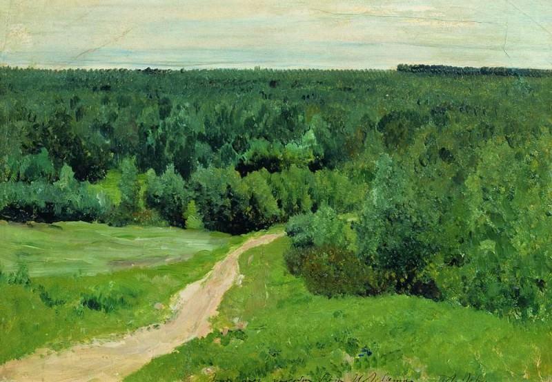 Wood distances. 1880-1890-e. Isaac Ilyich Levitan