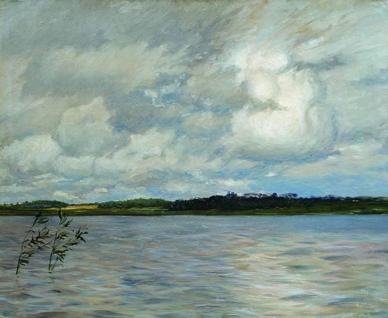 Озеро. Серый день. 1895. Исаак Ильич Левитан
