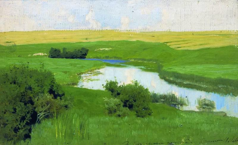 Istra River. 1885-1886. Isaac Ilyich Levitan