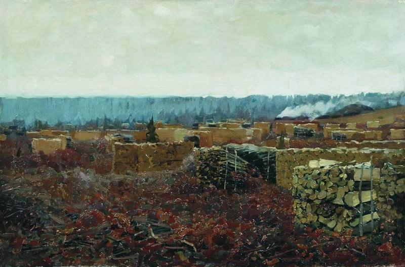 Felling. 1898. Isaac Ilyich Levitan