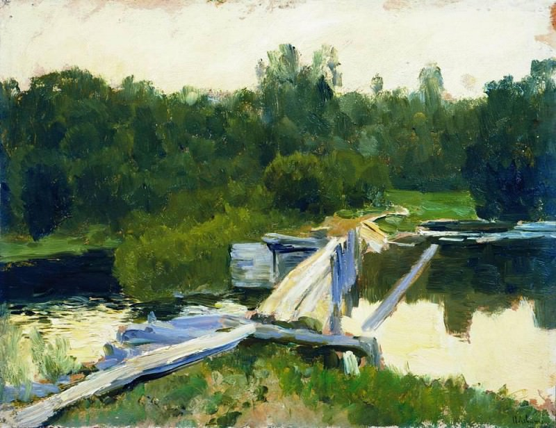 The Pool 2. 1891. Isaac Ilyich Levitan