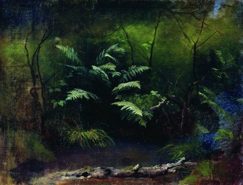 Ferns near the water. 1895. Isaac Ilyich Levitan