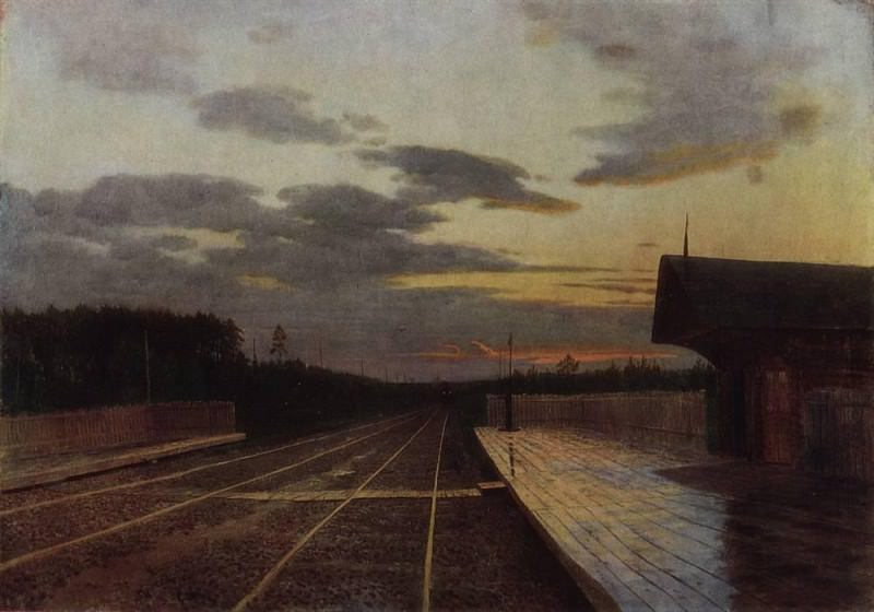 evening after rain. 1879. Isaac Ilyich Levitan
