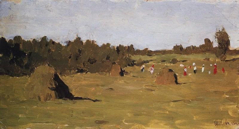 hay. 1899. Isaac Ilyich Levitan