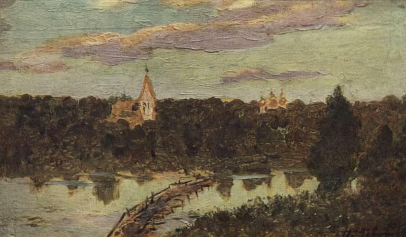 Silent abode 4. 1890. Isaac Ilyich Levitan