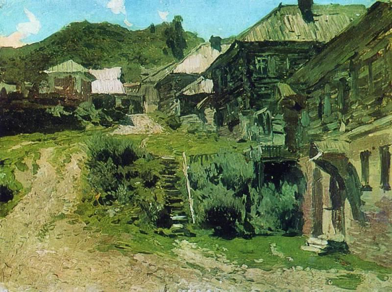 Уголок в Плёсе. 1888. Исаак Ильич Левитан