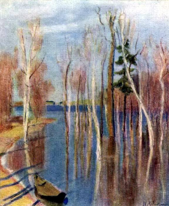 Весна. Большая вода. 1896. Исаак Ильич Левитан