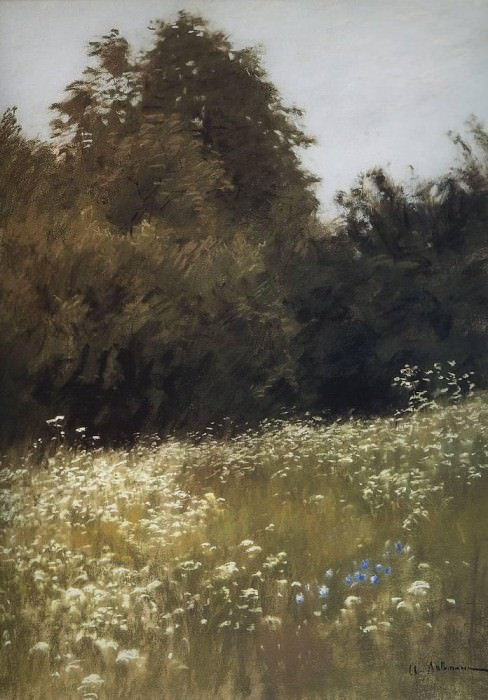 meadow in the woods. 1898. Isaac Ilyich Levitan