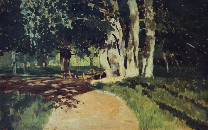In the Park 2. 1895. Isaac Ilyich Levitan