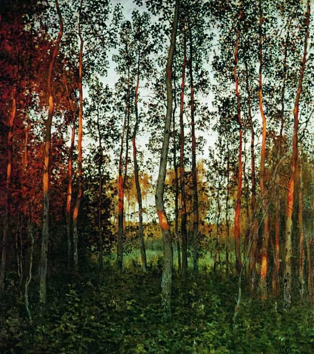 Last rays of the sun. Aspen wood. 1897. Isaac Ilyich Levitan