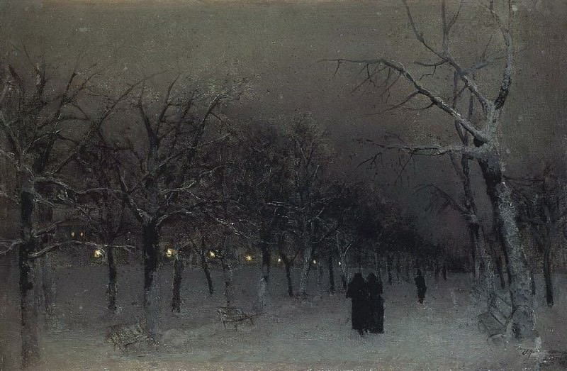 Boulevard in winter. 1883. Isaac Ilyich Levitan