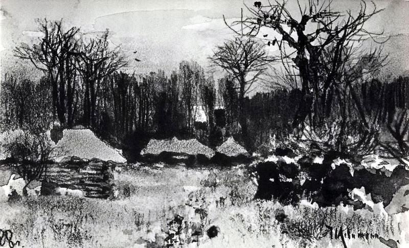 Деревня. Ранняя весна. 1888. Исаак Ильич Левитан
