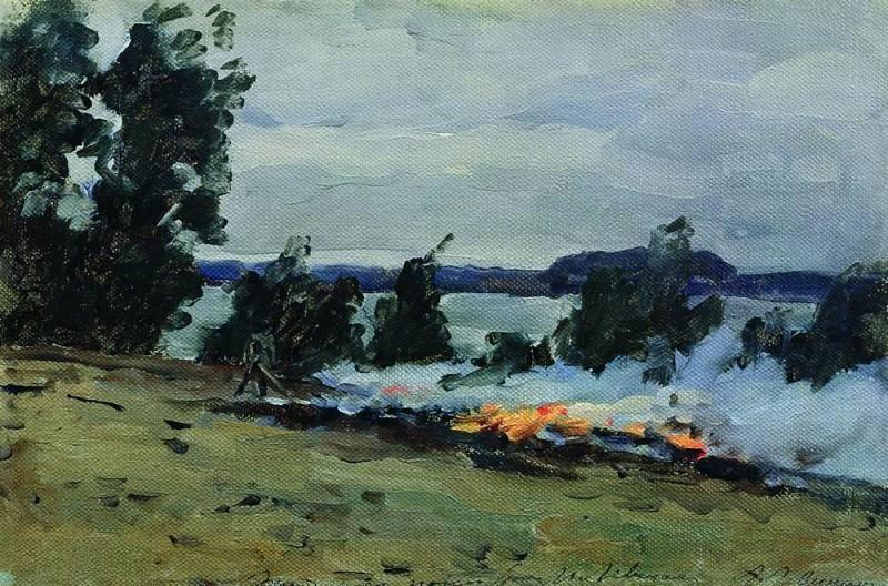 Fires. 1880. Isaac Ilyich Levitan