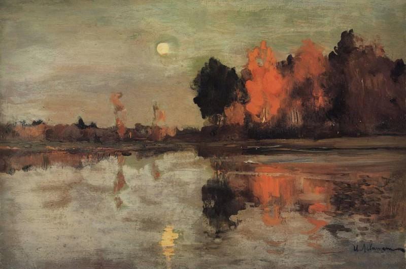 Сумерки. Луна1. 1899. Исаак Ильич Левитан