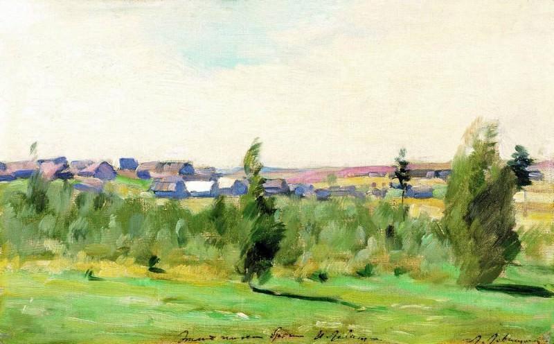 Village. 1890. Isaac Ilyich Levitan