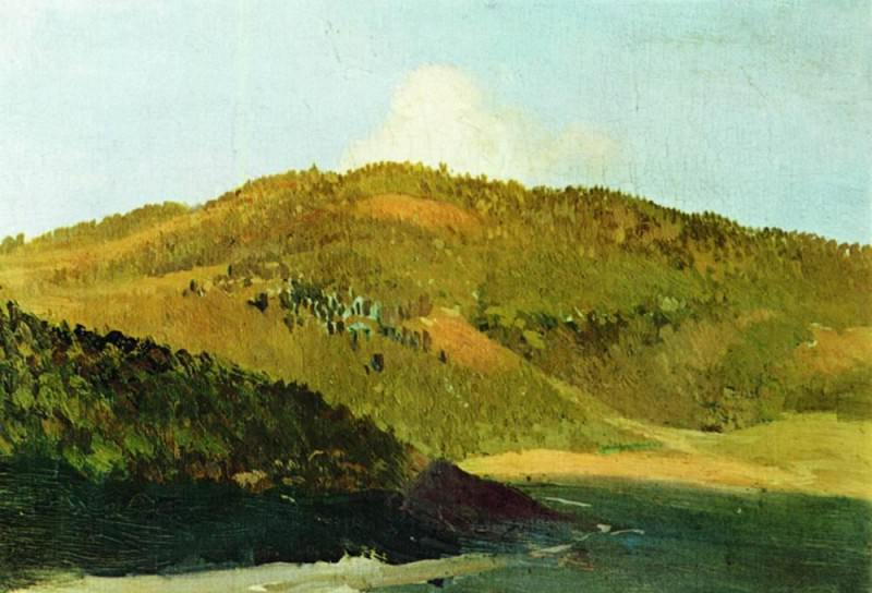 On the tops of pastures. 1886. Isaac Ilyich Levitan